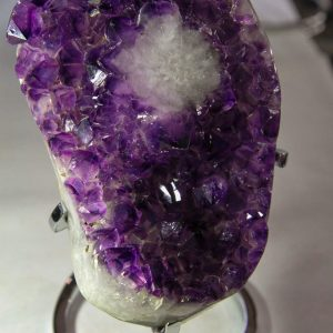 Amethyst Sculpture With Chrome Metal Stand-0