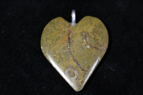 Ammonite Pendant A grade - Heart-1487
