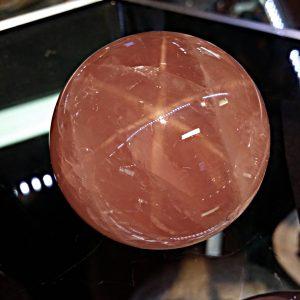 Rose Quartz Sphere - Asterated-0