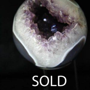 Amethyst Geode Sphere -0