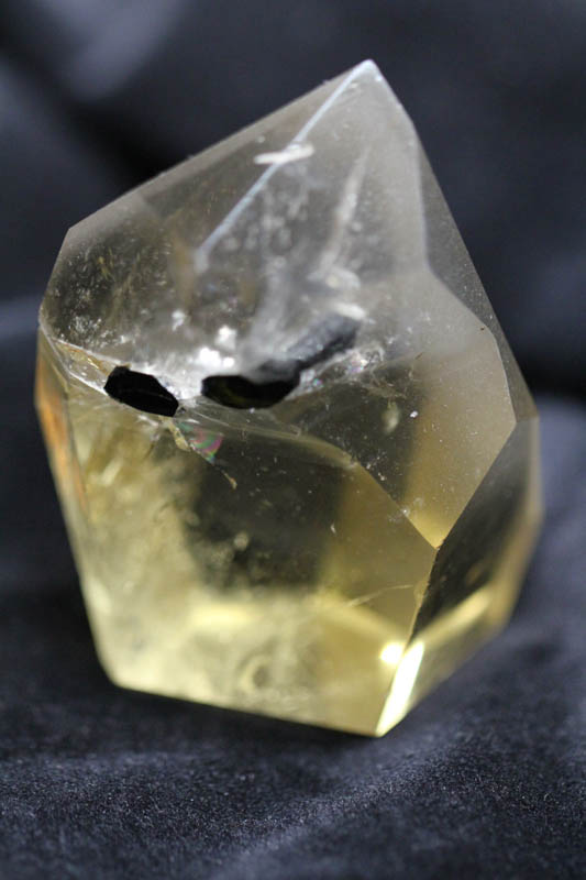 Citrine formation with tourmaline inclusion cystals-1771