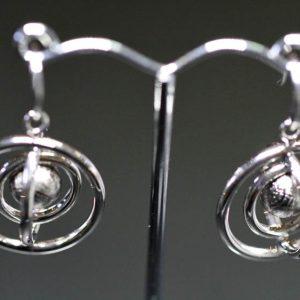 Meteorite Earrings Lrg-0