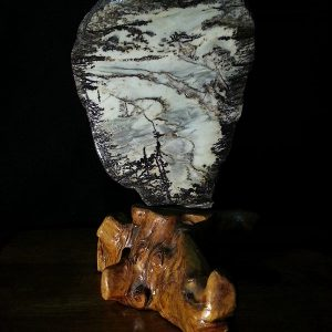 Suiseki Stone - Cliff top down to the plains-0