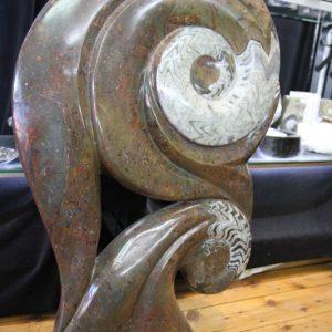 Fossil Ammonite Sculpture-0