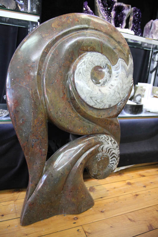 Fossil Ammonite Sculpture-0