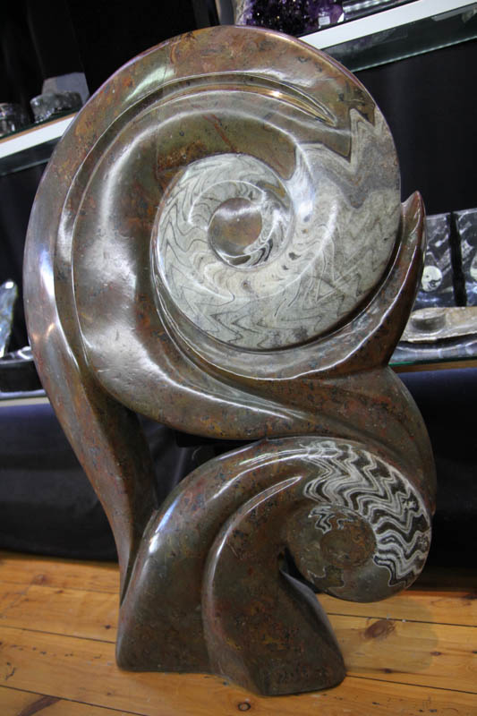 Fossil Ammonite Sculpture-1987