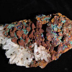 Quartz Azurite Malachite Cluster-0
