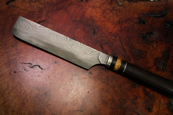 Mammoth Ivory Damascus Steel Knifes - Set 3-3225