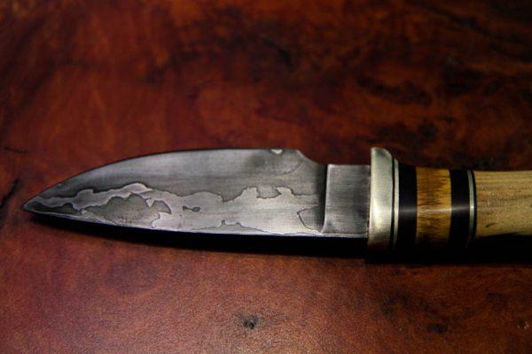 Mammoth Ivory Damascus Steel Utility Knife-0