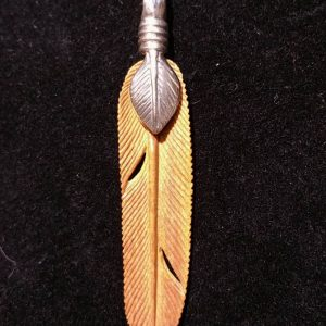 Mammoth Ivory Feather Pendant-0